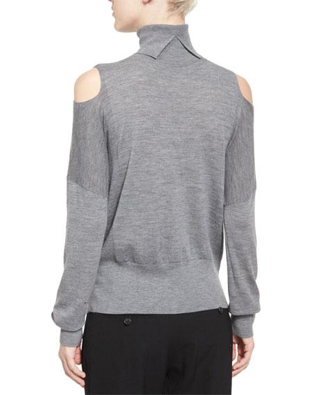 8dab71b38a6836 Vince Cold-Shoulder Turtleneck Sweater