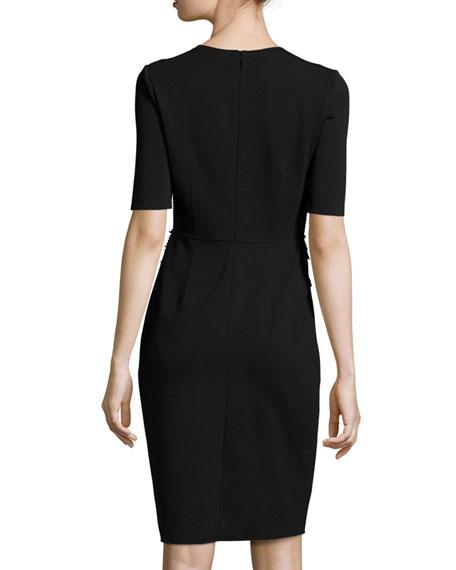 e78df77b Elie Tahari Tinsley Half-Sleeve Colorblocked Tweed Sheath Dress ...