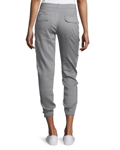 Linen-Blend Cargo Pants, Fossil