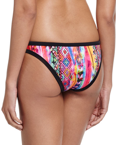 Scuba Printed Hipster Swim Bottom, Mexican Summer