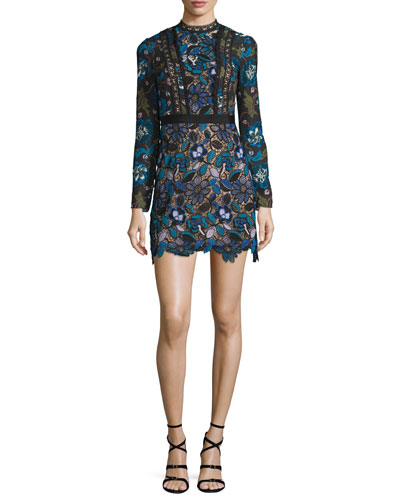 Maxine Floral Lace Mini Dress