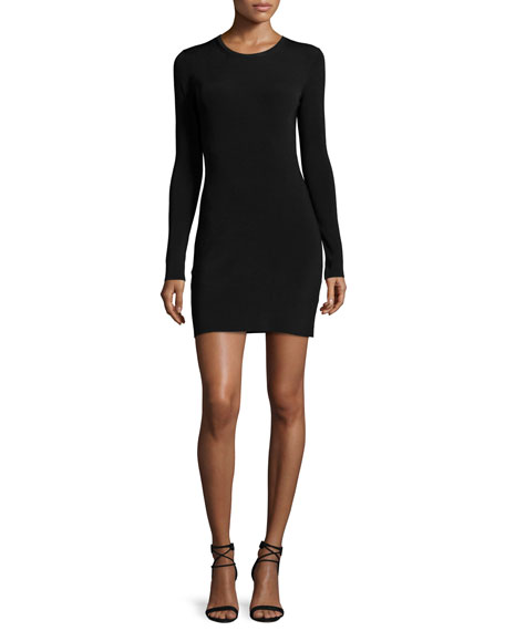Elizabeth and James Priscilla Long-Sleeve Cutout Ribbed Mini