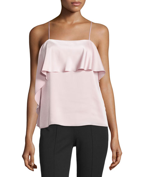 Abby Layered Satin Tank, Pink