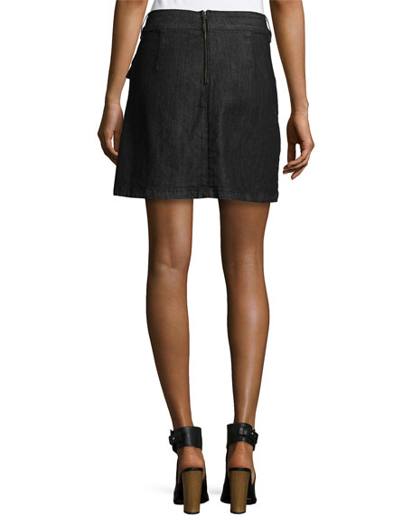 Le Mini A-Line Broome Street Skirt, Black