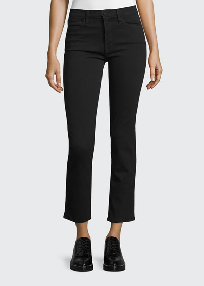 Le High Straight-Leg Cropped Jeans, Film Noir