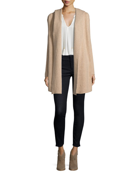 Joie Gredan Long Hooded Sweater, Coffee/Cream