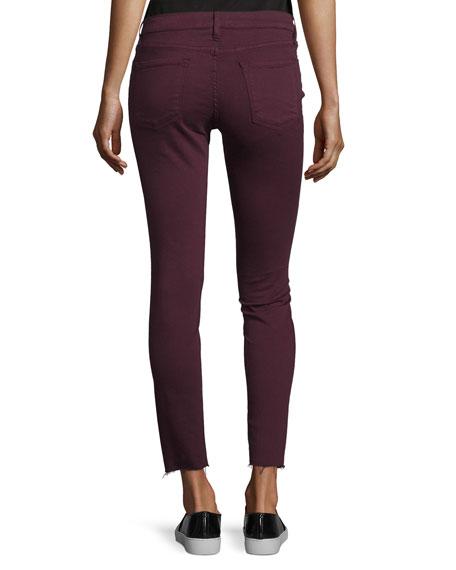 Le Skinny de Jeanne Raw Edge Jeans, Mahogany