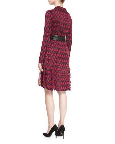 5ed7f76e5e079b Diane von Furstenberg New Catherine Leather-Belted Shirtdress ...