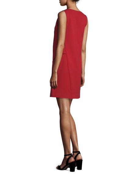 Jenn Sleeveless Shift Dress, Rubiate