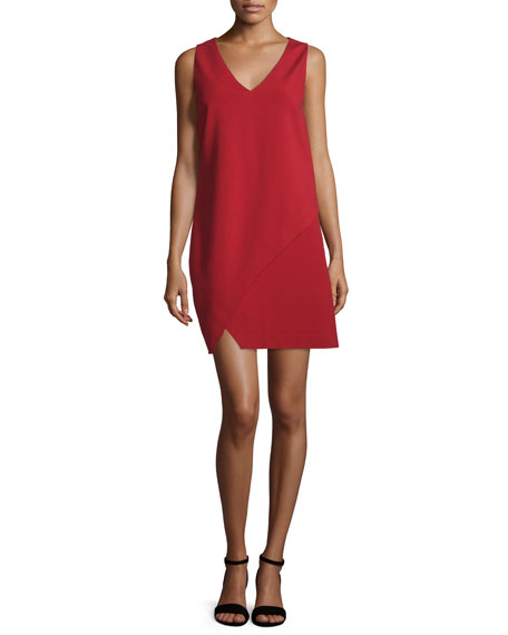 Diane von Furstenberg Jenn Sleeveless Shift Dress, Rubiate