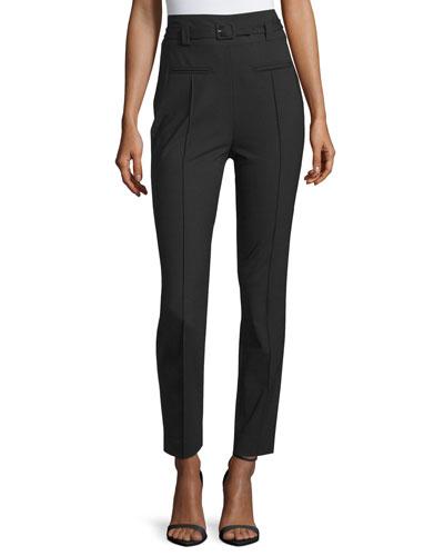 Blysse High-Waist Belted Pants, Black