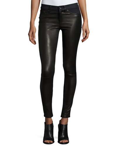 Hyde Essex Leather & Denim Skinny Jeans