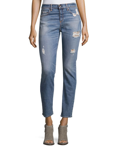 Dre Distressed Ankle Jeans, Atwater