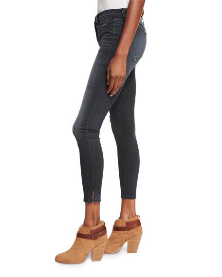 b9215f6edec rag & bone/JEAN 10 Inch Capri Jeans w/Slit, Steele Gray