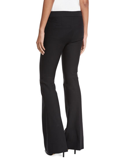 Stretch Flare Trousers, Black