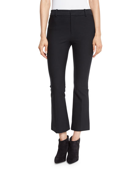 Derek Lam 10 Crosby Cropped Flare Stretch Trousers,