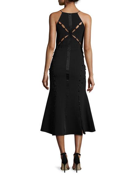 Shaik Cutout Sleeveless Midi Dress