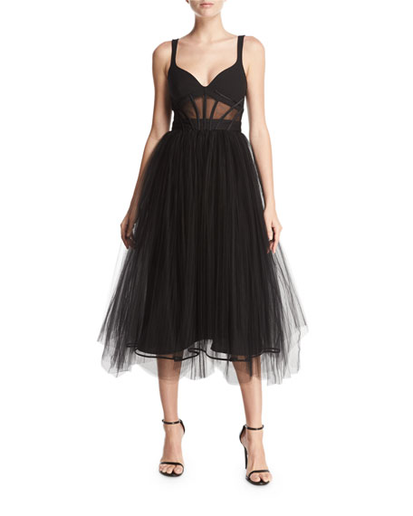 Evangeline Bustier-Style Tulle Gown