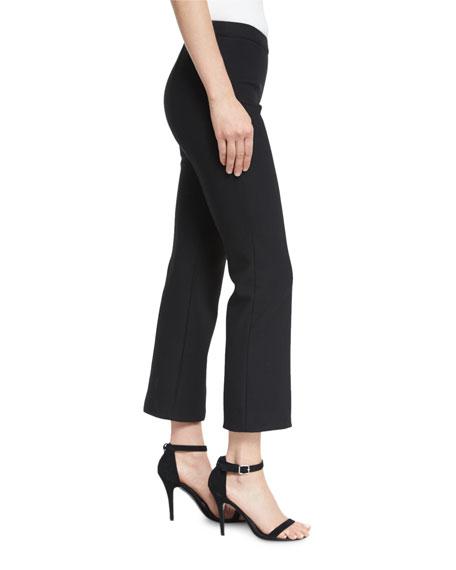 Onyx Flare-Leg Cropped Pants, Black