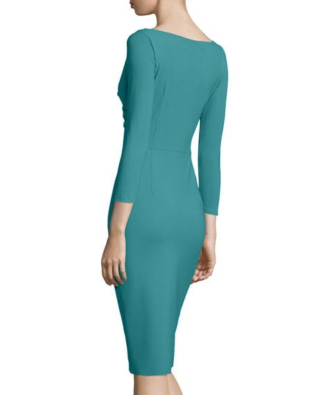 Melly Overlap Sheath Dress
