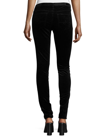 The Legging Velvet Skinny Jeans, Black