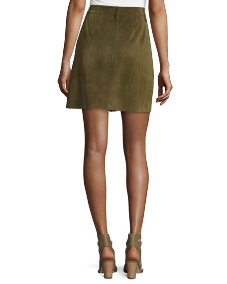 The Suede Naval Skirt, Green