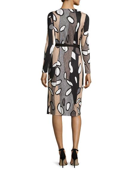 Elizabel Printed Silk Wrap Dress