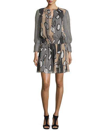 Kelley Printed Blouson Dress