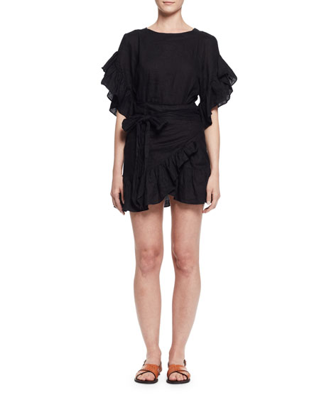 Delicia ruffle dress - Black Isabel Marant upC1xnr