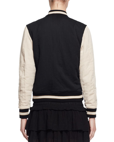 Dabney Reversible Cotton Bomber Jacket