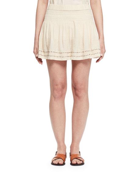 Alea Studded Jersey Mini Skirt