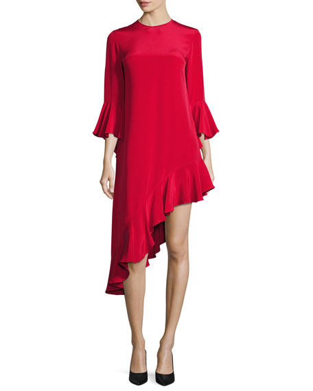 Alexis Hazel Ruffle-Trim Asymmetric Dress