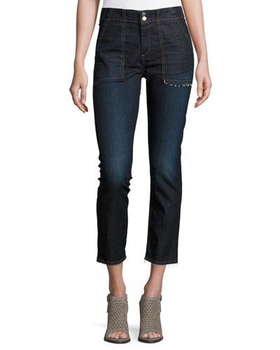 Denny Cropped Jeans, Warsaw