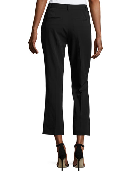 T BY ALEXANDER WANG Cropped Stretch Suiting Pants, Black