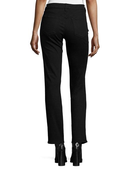 Amelia Mid-Rise Straight-Leg Jeans, Vanity