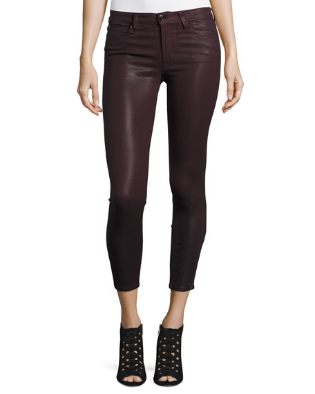 Joe's Jeans The Icon Coated Skinny Ankle Jeans,