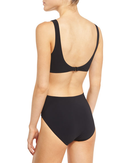Basics V-Neck Monokini Swimsuit