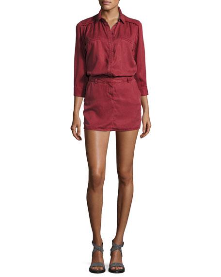 58e67d11177 Etienne Marcel 3/4-Sleeve Tunic Dress, Burgundy