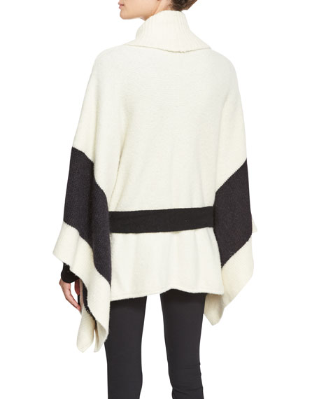 Britton Belted Cape, Ivory