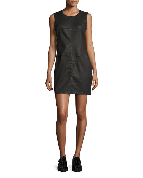 The Shift Dress, Black Coated