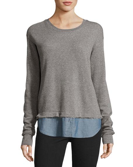 The Detention Sweatshirt, Heather Gray/Chambray