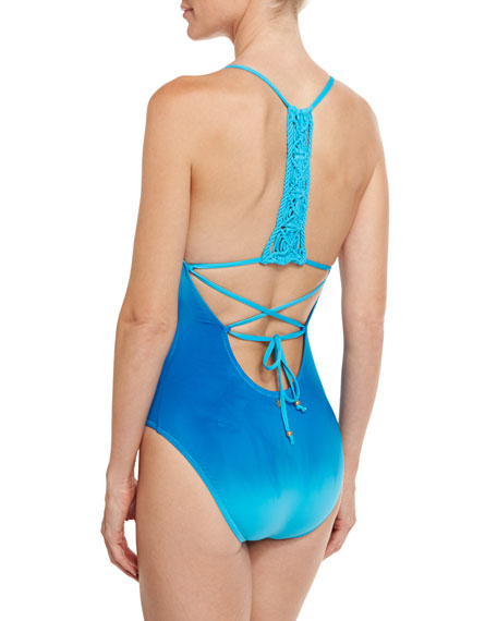 Solola Goddess One-Piece Swimsuit, Turquoise