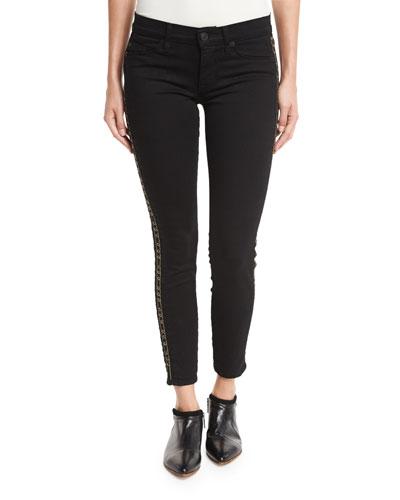 Luna Super Skinny Ankle Jeans, Black Zinc