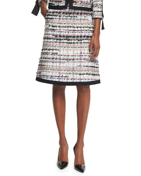 e67cf09ff9b Oscar de la Renta Tweed A-Line Skirt W Pockets