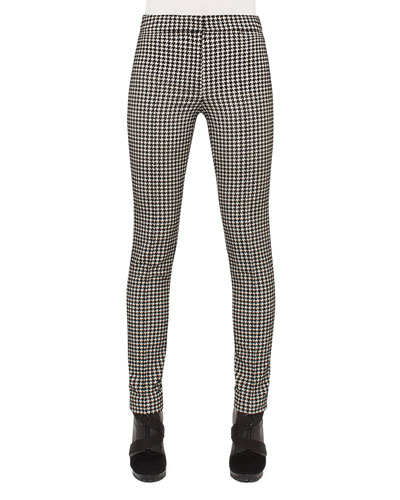 Mara Houndstooth Pants, Black/Cream