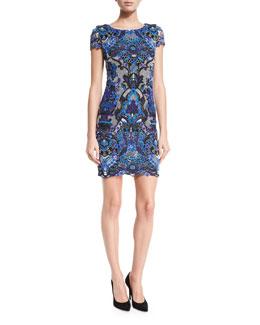 Nakia Guipure Lace Short-Sleeve Dress