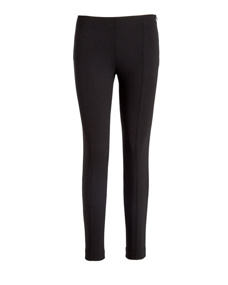 Cosso Skinny Cropped Pants, Black