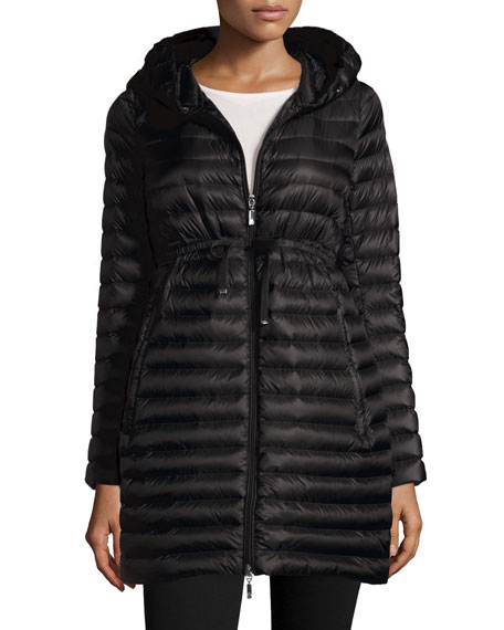 Barbel Hooded Down-Fill Knee-Length Jacket