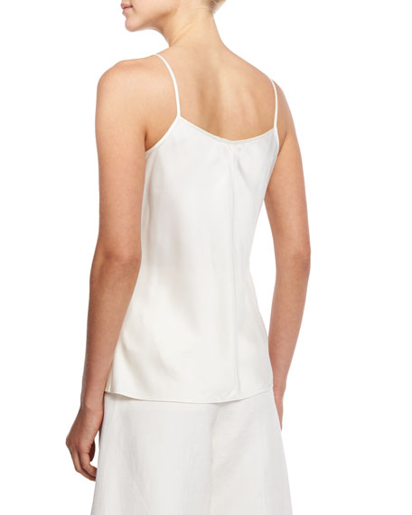 Scoop-Neck A-Line Camisole, Ivory