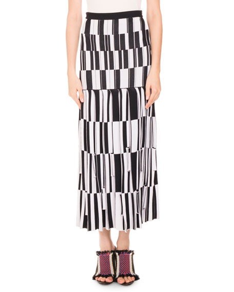 Proenza Schouler Pleated skirts PLEATED JACQUARD MAXI SKIRT, MULTI PATTERN